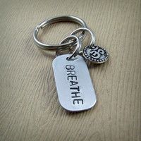 Breathe - Om Keychain
