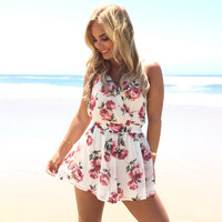 Chic Rose Romper