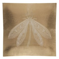 Threshold™ Decorative Glass Wall Tile - Gold Foiled Dragonfly