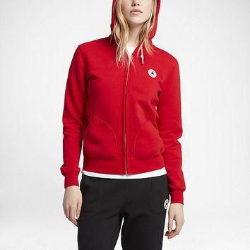 The Converse Full-Zip Women's Hoodie.