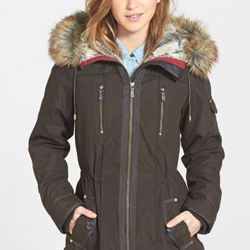 Women's 1 Madison Faux Fur Trim Parka,