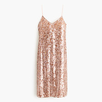J.Crew Womens Collection Sequin Cami Dress