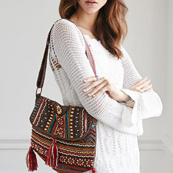 Boemo Beaded Flap-Top Bag