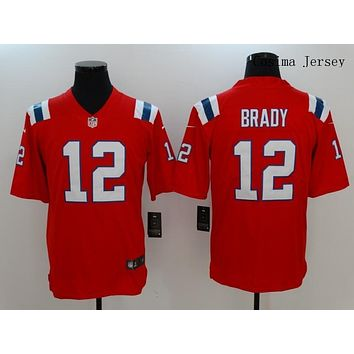 Danny Online Nike NFL Jersey Men's Vapor Untouchable Color Rush New England Patriots #12 Tom Brady Football Jersey Red