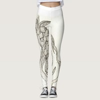 Black and White Monochrome Leggings