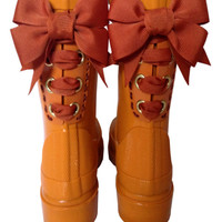 Pumpkin Timber & Tamber French Bow Boot
