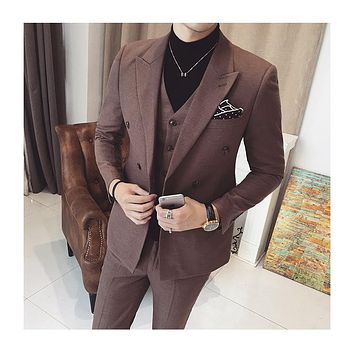 Slim bleiser blaser masculino Mens Suits Ternos Masculino 2017 Spring Autumn Blazer Jacket blaser one set