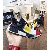 Adidas Pharrell  HU NMD New fashion letter print contrast color couple shoes