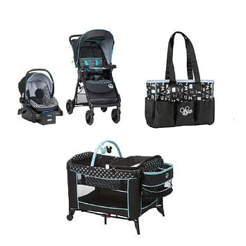 Disney Mickey Baby Gear Bundle,Stroller Travel System,Play Yard, and Diaper Bag