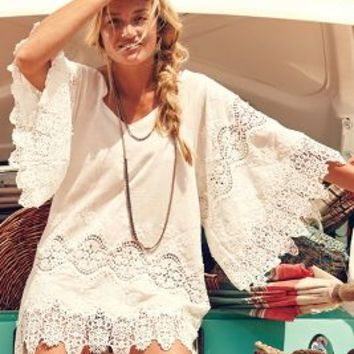 Eberjey Castaway Cover-Up White