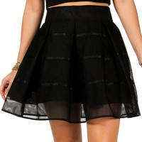 Sale- Perforated Pleated Skirt