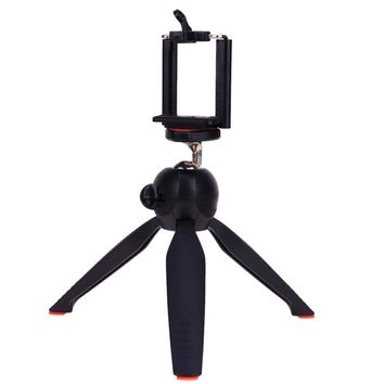 Mini Portable Mobile Phone Tripod Desktop 360 Degree Rotatable 1/4 Screw Tripods Stand Bracket with Phone Clip Holder for Camera