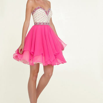 New Arrival Short Crystal Homecoming Dresses Sexy Mini Ball Gown Party Dress vestido 15 anos curto Custom Made