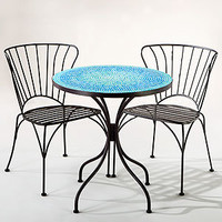 Turquoise Cadiz Mosaic Bistro Collection | Outdoor and Patio Furniture| Furniture | World Market