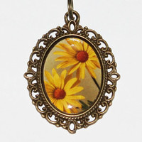 Yellow Daisies Necklace