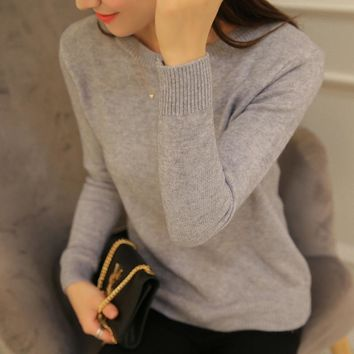 PEONFLY Winter Sweater Female Knitted Jersey Jumper Women Cashmere Pullover Tricot Pull Femme