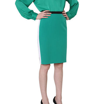 Isaac Mizrahi New York Color-Block Pencil Skirt