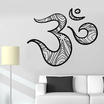 Wall Sticker Om Symbol Meditation Hieroglyph Ornament Vinyl Decal Unique Gift (z2942)