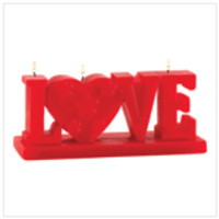 Love  Figural Candle