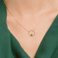 Dulce Circle Necklace- ONLY SILVER LEFT!