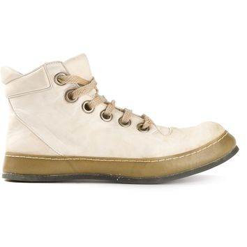 A Diciannoveventitre Distressed Hi-Top Sneakers