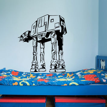 Star Wars Wall Decals AT-AT Walker Vinyl Sticker Decal Fighter Wall Decal Children Kids Nursery Bedroom Decor Art Mural M-181