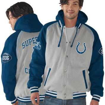 Indianapolis Colts Rookie of the Year Super Bowl Champions Commemorative Jacket - Ash/Royal Blue