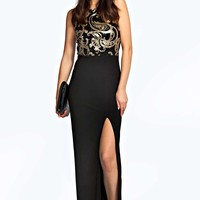 Cassie Side Split Strappy Maxi Dress