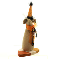 Halloween Candy Corn Mouse Halloween Figurine