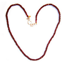Jewelry by Atlantis - 14k Gold & Ruby Necklace-Exclusive to Giving Tree Jewelry