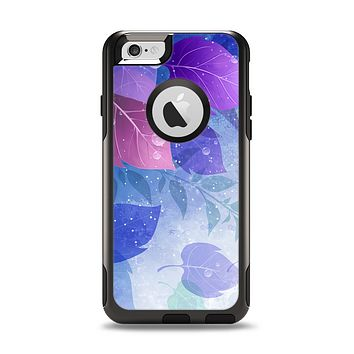 The Magical Abstract Pink & Blue Floral Apple iPhone 6 Otterbox Commuter Case Skin Set