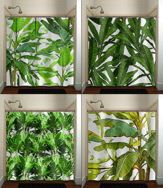 Tropical Jungle Green Palm Banana Leaf From Tablishedworks On
