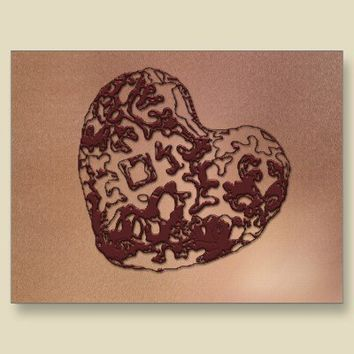 Abstract Jewelled  Heart Postcard from Zazzle.com