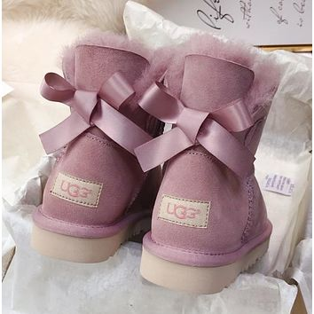 UGG Classic single ribbon bow tie boots