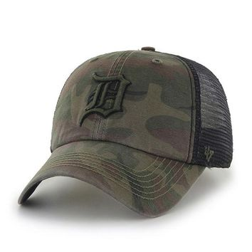 DCCKG8Q MLB Detroit Tigers Mens Sandalwood Beaufort Closer Mesh Hat
