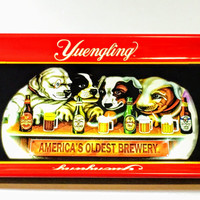 Limited Edition Vintage Yuengling Beer Advertising Metal Collectible Beer Serving Tray