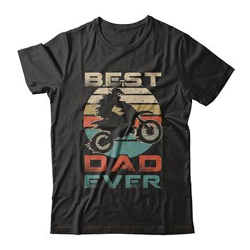Vintage Best Motocross Dad Ever Gift Father's Day