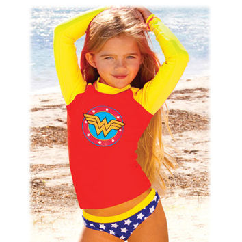 Wonder Woman Toddler Long Sleeve Rash Guard
