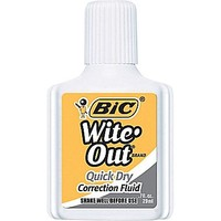 BIC® Wite-Out® Brand Quick Dry Correction Fluid, White, Each | Staples®