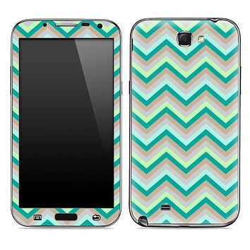 Subtle Green Chevron Pattern Skin for the Samsung Galaxy Note 1 or 2
