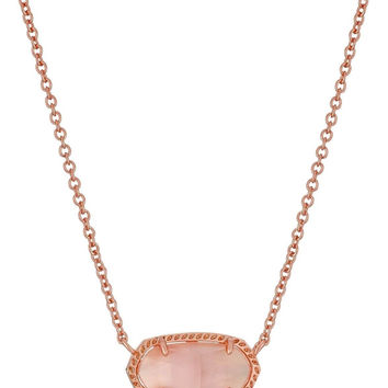 "Kendra Scott ""Signature"" Elisa Rose Gold Peach Illusion Pendant Necklace - Li..."