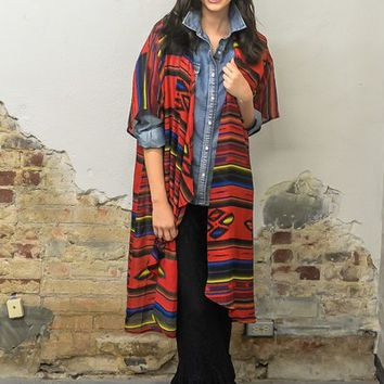 Red serape duster from PeaceLove&Jewels