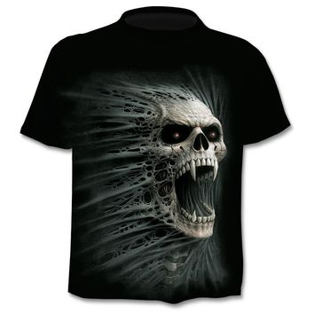 Skull Gothic 3D short sleeve Cool T-Shirt
