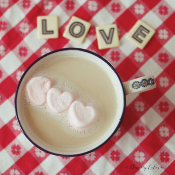 love, hearts, pink, red, white, fine art photography