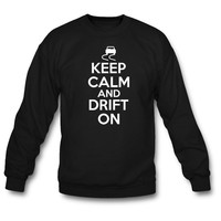 Keep calm and drift on crewneck sweatshirt