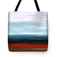 Abstract Landscape - Ruby Lake - Sharon Cummings Tote Bag