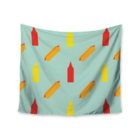 "Will Wild ""Hot Dog Pattern"" Food Wall Tapestry"