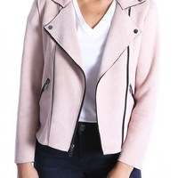 KUT From the Kloth Haddie Faux Suede Moto Jacket (Regular & Petite) | Nordstrom