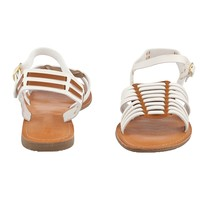 Shop Prima Donna - Torpedo Woven Sandals Off White/Tan at Prima donna