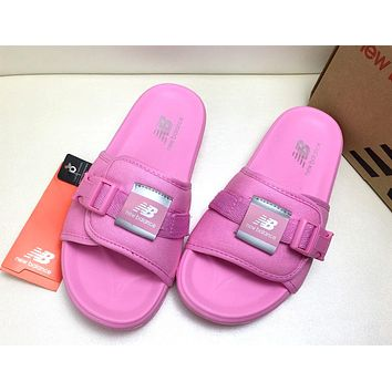 NB New Balance 2019 new Velcro sports beach shoes couple casual lazy slippers Pink